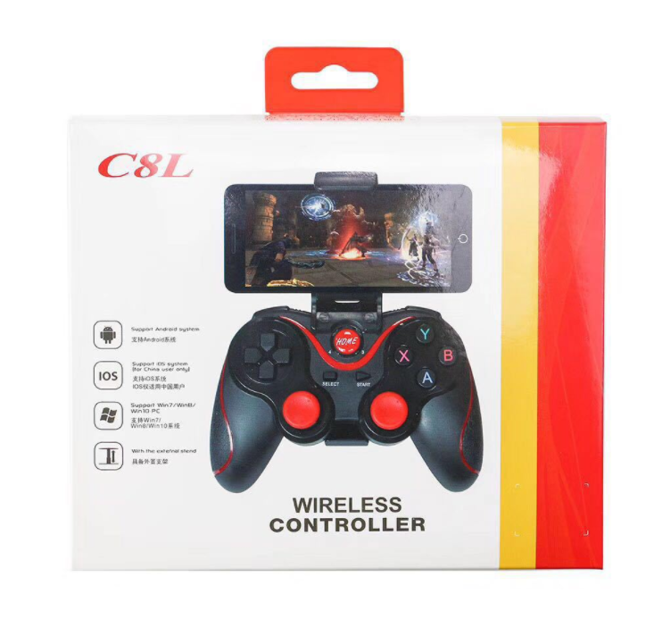 C8 Wireless Bluetooth Gamepad Mobile Gamepad Support iOS/Android Handle